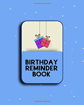 Birthday Reminder Book: Personal Calendar Of Important Celeb PAPERBACK NEW BOOK