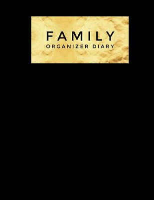 Family Organizer Diary: planner, Blank Undated Calendar for  PAPERBACK NEW BOOK
