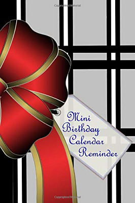 Mini Birthday Calendar Reminder: Color Interior Small  Month PAPERBACK NEW BOOK