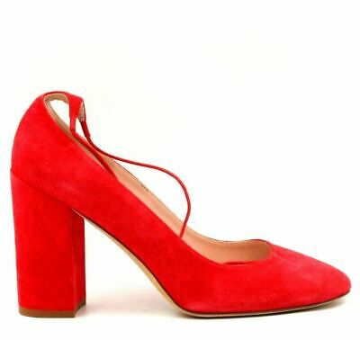 b0d96bbf3dc9 KATE SPADE Gena Women Ankle Strap Classic Heels Size US 8.5M Red Leather