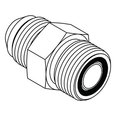 Fs6801 08 08 Hydraulic Fitting 8 Male Face Seal X 12 Male O Ring