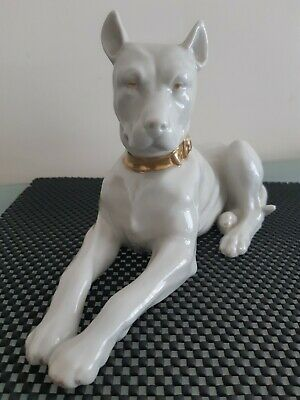 Vintage Porcelain Big Dog