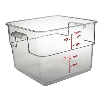 Vogue Polycarbonate Square Storage Container 10Ltr (Next working day to UK)