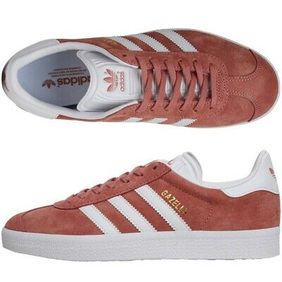 Adidas Originals Womens Size 4.5 UK Gazelle Suede Pink Trainers Casual Sneakers
