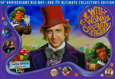 Willy Wonka and the Chocolate Factory (Blu-ray Disc, 2011, 3-Disc Set, 40th...