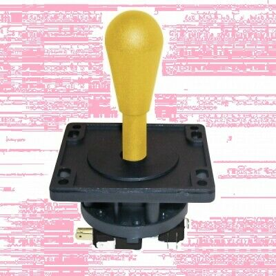 Yellow HAPP 8 Way Competition joystick for arcade, MAME, JAMMA Multicade - New