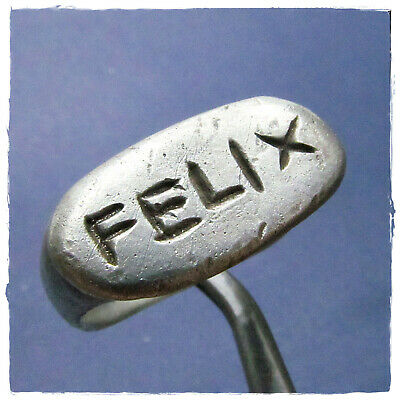 "** FELIX - ""LUCK - HAPPY"" ** ancient  SILVER  Roman ring !!! 8,25g"