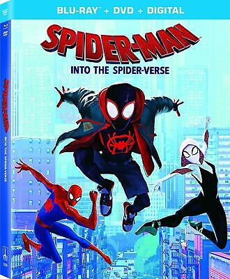 Spider-Man: Into The Spider-Verse (w/Slipcover, Blu-Ray, DVD, Digital) NEW