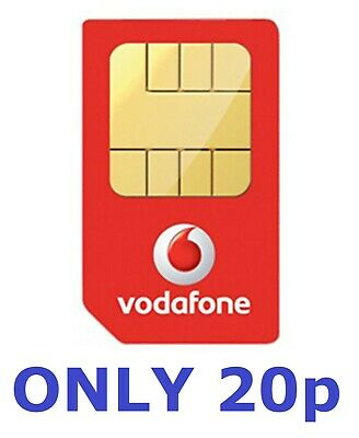VODAFONE SIM CARD 4G MOBILE PAY AS YOU GO PAYG**POSTED 1ST CLASS MAIL**  ONLY 20p