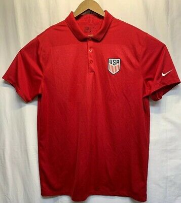 2035d7d8ee2 New Nike USA Soccer National Team Polo Golf Shirt Red Size Mens XL USMNT  EUC!