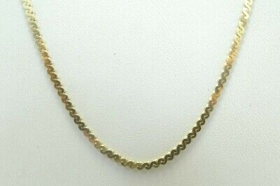 14K Yellow Gold 1.5mm S Link Chain Necklace 18 Inch 5.9 Grams D3533