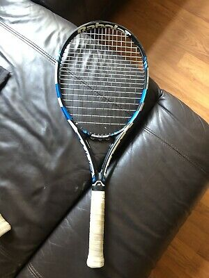 BABOLAT PURE DRIVE GT,  GRIP SIZE: 4 3/8 Perfect Condition Recently Re-strung