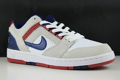 NIKE SB AIR Force Ii Low Ao0300 100 Size 9.5 WhiteBlue Void Red Crush