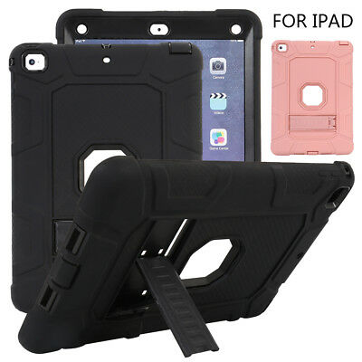 Shockproof Heavy Duty For New iPad 9.7 2018 6th Gen Rubber Hard Stand Case Cover