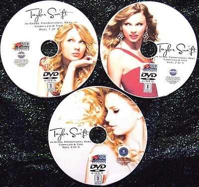 TAYLOR SWIFT In-Store Music Video Reel 2006-2019 3 DVD Set 56 Videos Babe & ME!