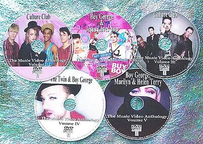 Button & FREE CULTURE CLUB & BOY GEORGE 112 Music Video Collection 82-2019 5 DVD