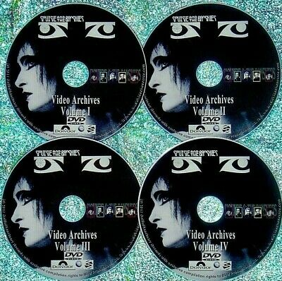 Button & FREE SIOUXSIE and The BANSHEES Video Archives & Live Concerts 4 DVD Set