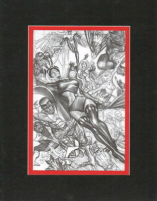 2015 SDCC Exclusive STORM & X-MEN COLLAGE PRINT PROFESSIONALLY MATTED Alex Ross