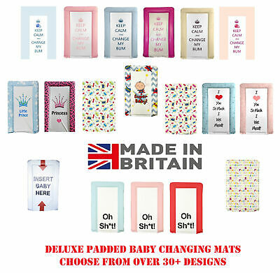 Deluxe Soft Padded Large Baby Nappy Changing Mat Waterproof Foam Mats Boy Girl