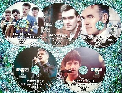 Pin & FREE The Smiths Morrissey Johnny Marr Music Video Anthology 82-2019 5 DVD