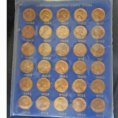 Lincoln Memorial Cents Series 1959 to 1972 Penny