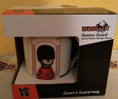 London 2012 Official Boxed London Olympics 2012 Wenlock Queens Guard Mug In Box Mint Olympic Memorabilia
