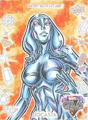 2016 Upper Deck Marvel Gems Character Sketch Card GS-29 Jocasta By Erwin Ropa!