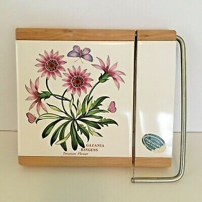 PORTMEIRION Botanic Garden Cheese Guillotine Slicer Tile Treasure Flower Sticker