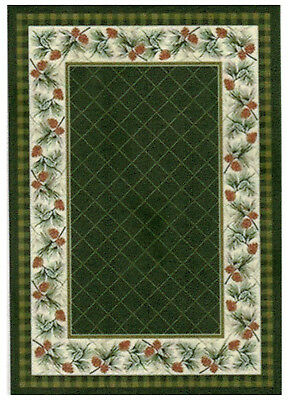 "1:24 Scale Dollhouse Area Rug approximately 4"" x 5-3/4"" - 0002030"