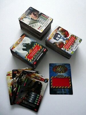 """PICK YOUR OWN x 30 (C,R,SR,UR) Dr Who """"Battles In Time"""" Trading Cards for £1.99"""
