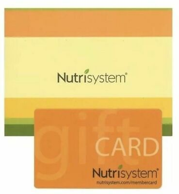 $200 NUTRISYSTEM Gift Card ~ Free trackable Shipping ~ Never Expires!