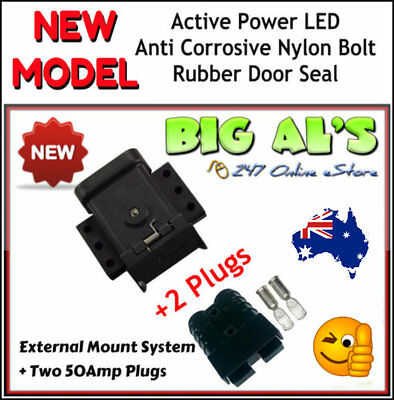 50Amp Anderson External Mounting System Kit Bracket Cap Cover + 2 *BLACK* Plugs