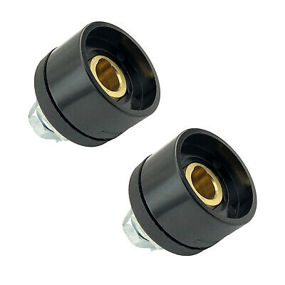 2 x Panel Socket Welding Cable Connector 10-25 DINSE 100-200 Amp