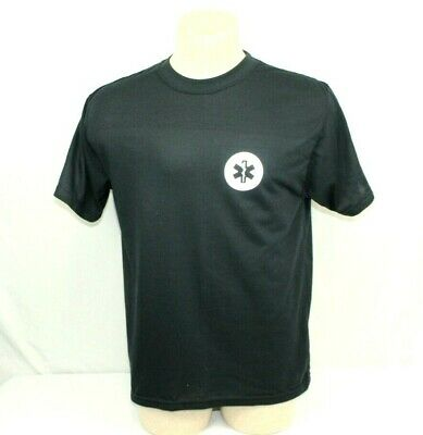 EMS Emergency Medical Services T-shirt By EVG Black Reflective Tee NWOT TSB2