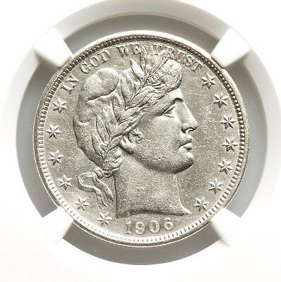 1906-D NGC AU Detls Barber Silver Half Dollar Nice Type Coin About Uncirculated