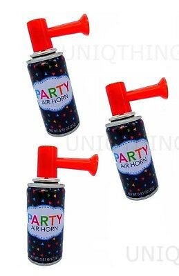 3 Air Horn Portable Hand Held Safety Security Party Sports Boat LOUD BLAST Horns