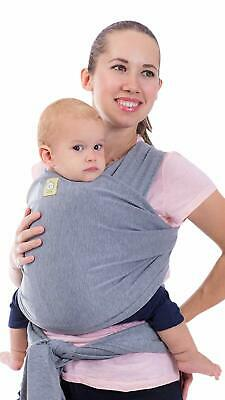 KeaBabies Baby Hands Free Wrap Carrier Stretchy Ergo Infant Carrier Classic Gray