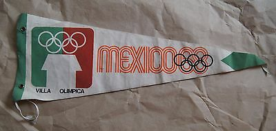 Mexico 1986 Pennant Olympic Games Villa Olimpica