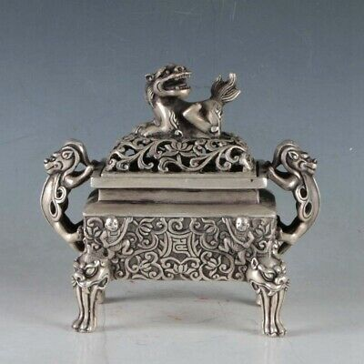 Chinese Silvering Copper Incense Burner Made During The Da Ming Xuande  .a