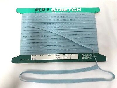 Pantie Elastic 30m x 10mm Sky Blue Underwear Braided Flat Stretch Sewing Elastic