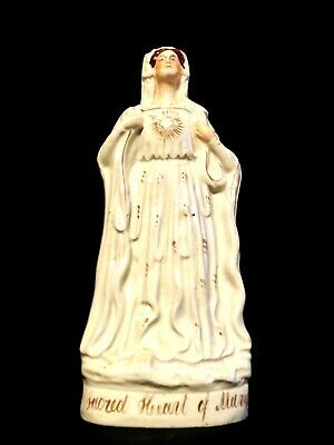 ULTRA RARE and Sought After Staffordshire Sacred Heart of Mary Figurine