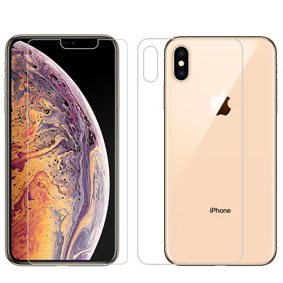 2PCS Premium Front & Back Tempered Glass Screen Protector iPhone X XS XR Max