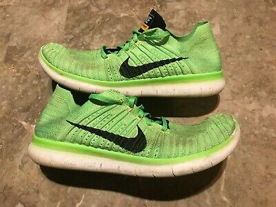 c79c8a64dd98 2016 Nike Free RN Flyknit Green White Running Shoes Size 11 (831069-300)