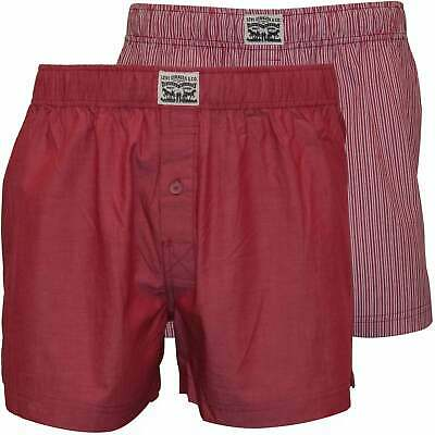 Levi's 2-Pack 300 Levi Strauss Striped Chambray Men's Woven Boxer Shorts, Red
