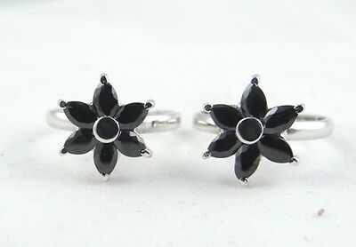 925 Solid Sterling Silver WOW Black CZ Wonderfull JewelleryToy Ring