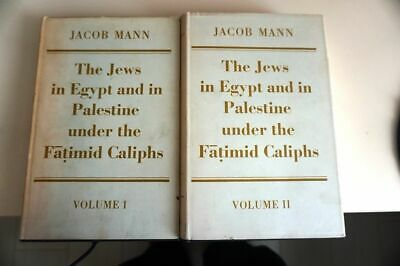 1969 Oxford English Jacob Mann Jews in Egypt and Palestine Under Fatimid Caliphs