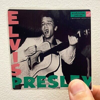 """Elvis Presley 3"""" x 3"""" EP LP Album Cover Sticker The King of Rock & Roll"""