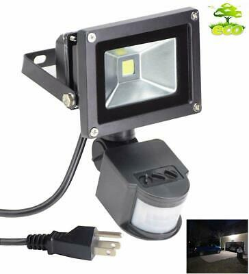 Led Motion Sensor Floodlight Outdoor Sensitive Security Light Wall Fixture Lamps