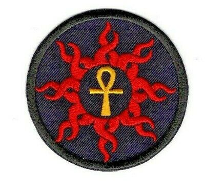 Ankh Egyptian hieroglyphic embroidered patch iron on or heat press ap552