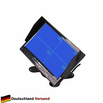 "7"" LCD Autorearview Bildschirm Quad Split TFT Monitor 12V-24V Screen 4 Kanäle"